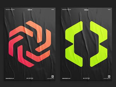 Logos on posters logodesigner dbworkplay brand brandidentity branding visualidentity identity logos logoinspiration logodesign logo