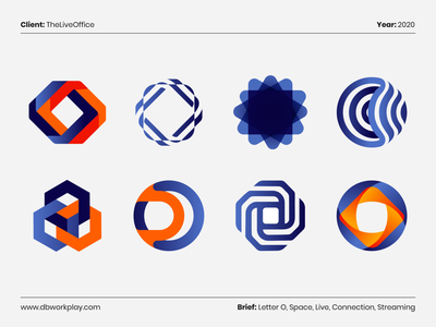 The Live Office Logo Concepts dbworkplay symbols visual identity brand identity branding logocollection logodesigner logodaily logoset logoinspiration logodesign logo logos