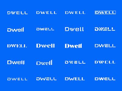 DWELL wordmark concepts dbworkplay brandingdesign branddesign logos logodesign logodesigner logodizajner logowording logotext logotype wordmark illustration design icon visual identity symbol logomark logo branding