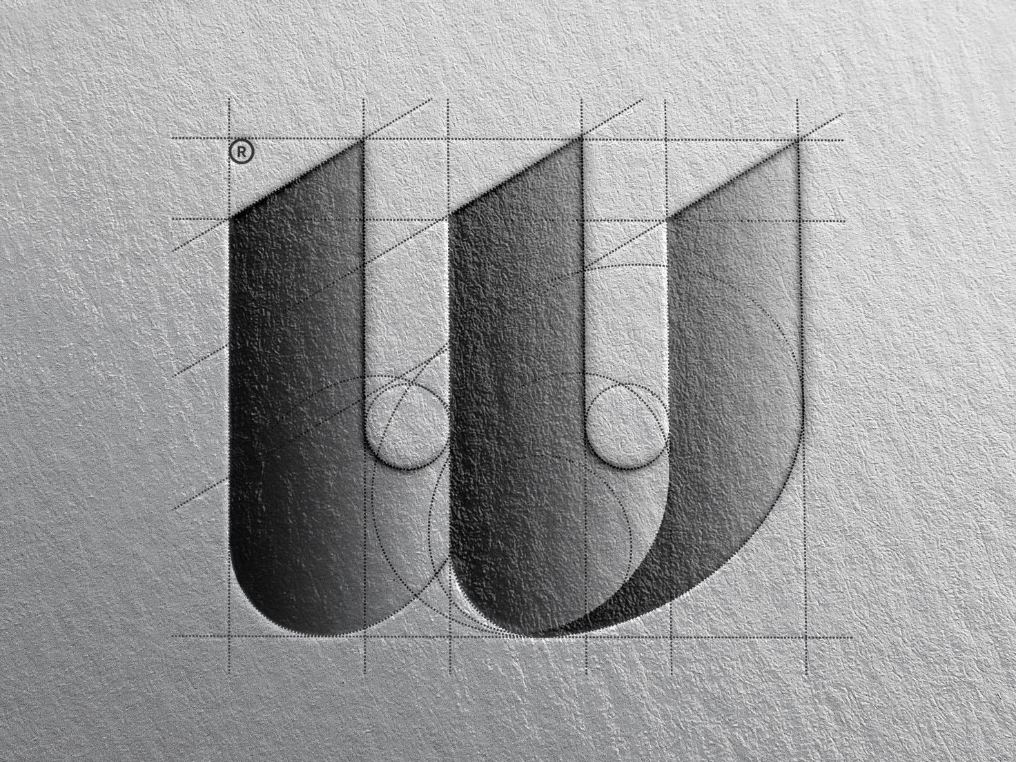 W logomark branding visual identity symbol logo illustration icon vector design