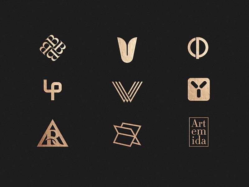 Logofolio 2019 Gold Edition logomark branding visual identity symbol logo icon illustration vector design