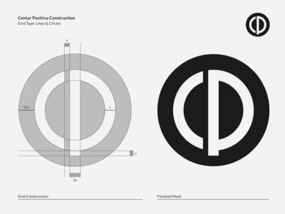 Centar Pozitiva Grid logomark branding visual identity symbol logo icon illustration vector design