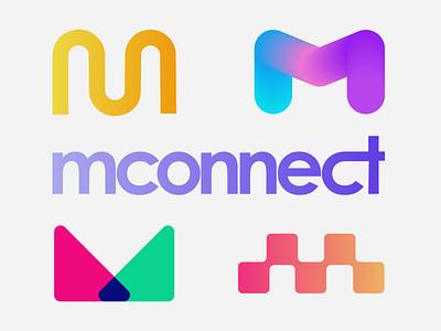 mconnect logo design type logomark branding visual identity symbol logo icon illustration vector design