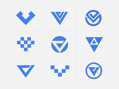 VV concepts type logomark branding visual identity symbol logo icon illustration vector design