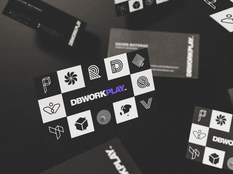 DBWORKPLAY™ - Personal branding & Logo design typography logomark branding visual identity symbol logo icon illustration vector design
