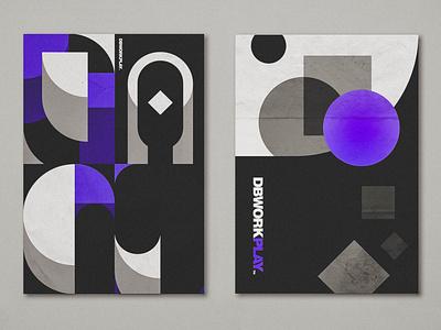 Personal branding posters branding visual identity icon illustration vector design