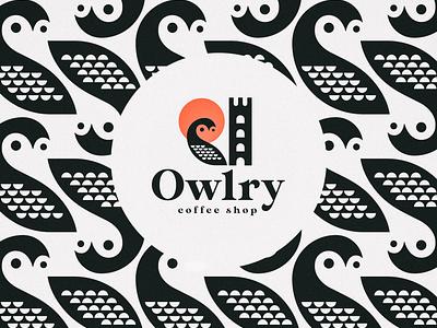 Owlry branding logomark symbol logo branding visual identity icon illustration vector design