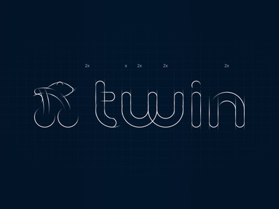 Twin Logo: Motion for presentation cherry grid cherry animation outlines animation logo structure structure animation lines animation grid animation logo grid
