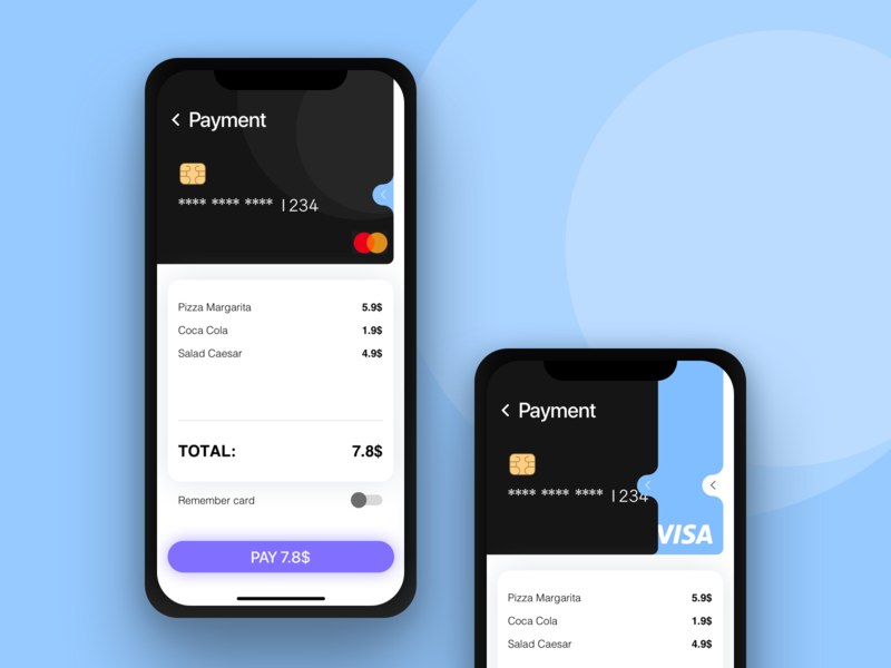 Payment page ios dailyui 002 ui sketch mobile interface app