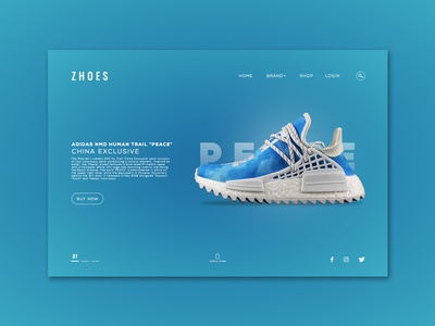 Zhoes Landing Page