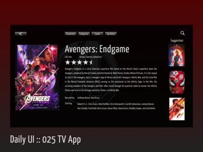 Daily UI :: 025 Tv App