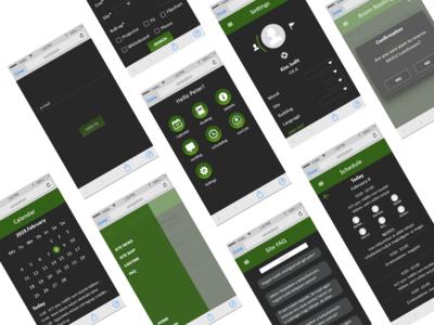 WebApp screens dark mode