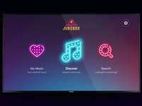 Electric Jukebox - music app for the TV