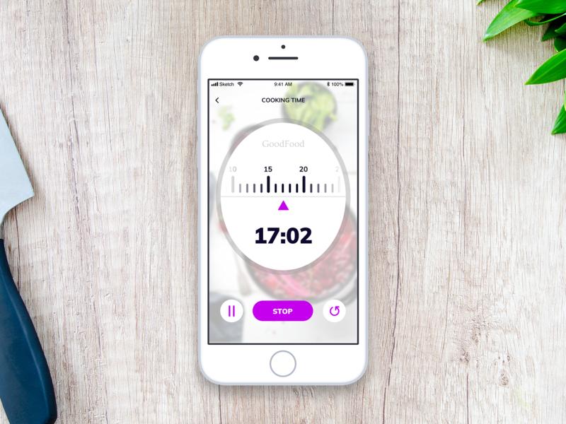 DailyUI 014 - Countdown Timer countdown timer countdowntimer timer 014 ui challenge app ui interface sketch mobile app ios food app daily 100 challenge ui mobile dailyui