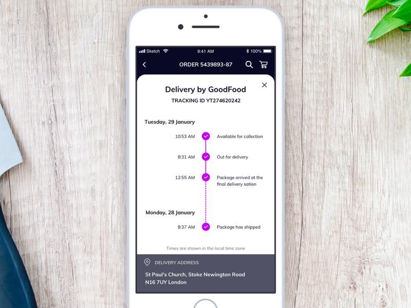 Daily UI 079 - Itinerary itinerary 079 daily ui daily challenge food app ios mobile app app mobile sketch ui interface ui challenge ui daily 100 challenge dailyui