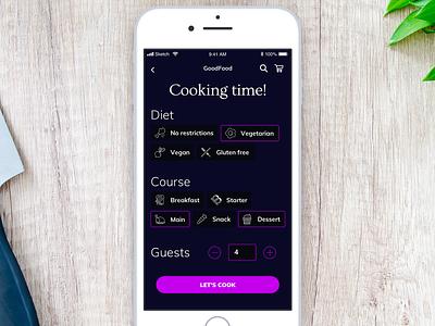 Daily UI 082 - Form form 082 daily ui daily challenge food app ios mobile app app mobile sketch ui interface ui challenge daily 100 challenge ui dailyui