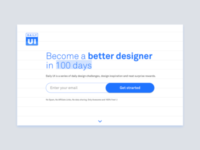 Daily UI 100 - Redesign Daily UI Landing Page