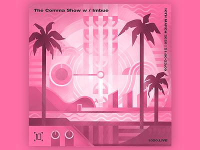 Comma Collective pink dj digital illustration cover artwork design music cover design bright color cover artwork illustration brand illustration