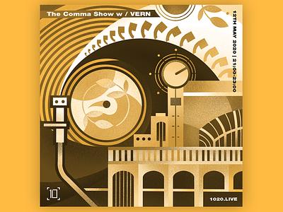 Comma Collective music flat digital dj cover design cover artwork artwork brand illustration illustration design
