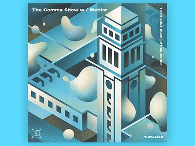 Comma Collective music cover design cover bright color flat cover artwork brand illustration artwork illustration design