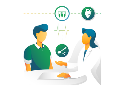 Website Illustration digital illustration digital design healthcare nutrition website illustration appointment health flat bright color artwork brand illustration illustration