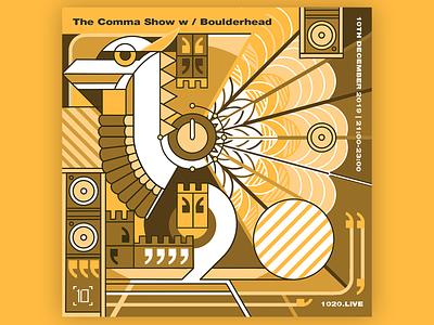Comma Collective music cover design cover cover artwork bright color brand illustration art artwork flat illustration design