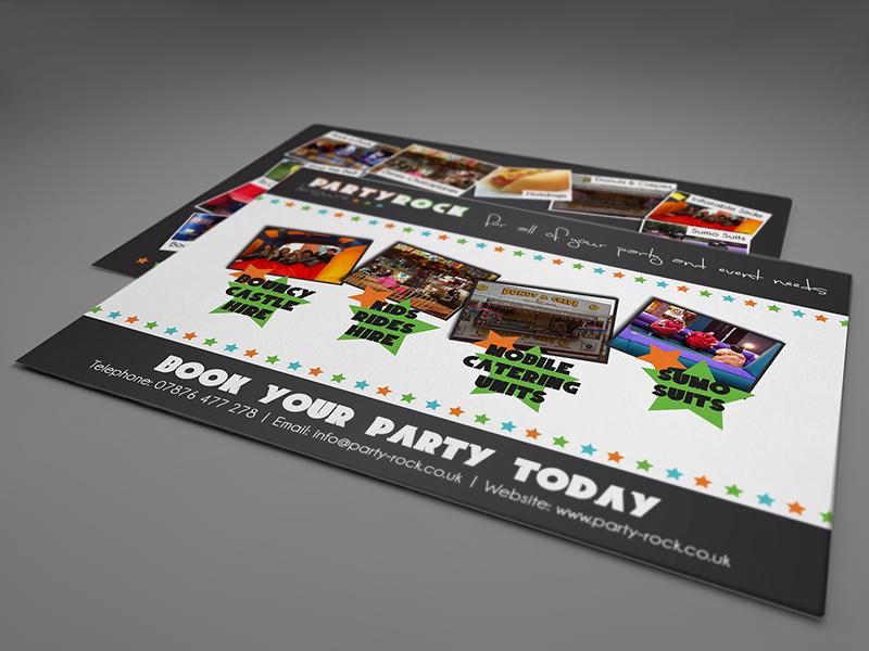 Party Rock Leisure Leaflet (reverse) leaflet flyer promo brochure