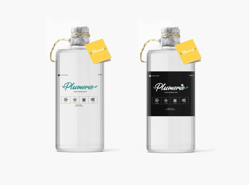 plumarie soap packaging illustration design branding