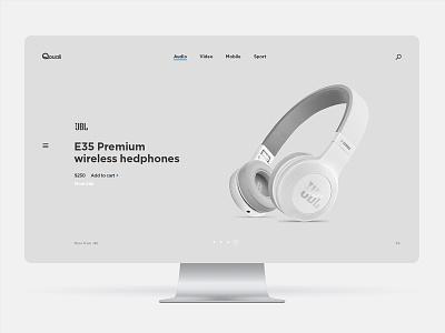 Qouali shop bose jbl earphones headphones mobile ecommerce