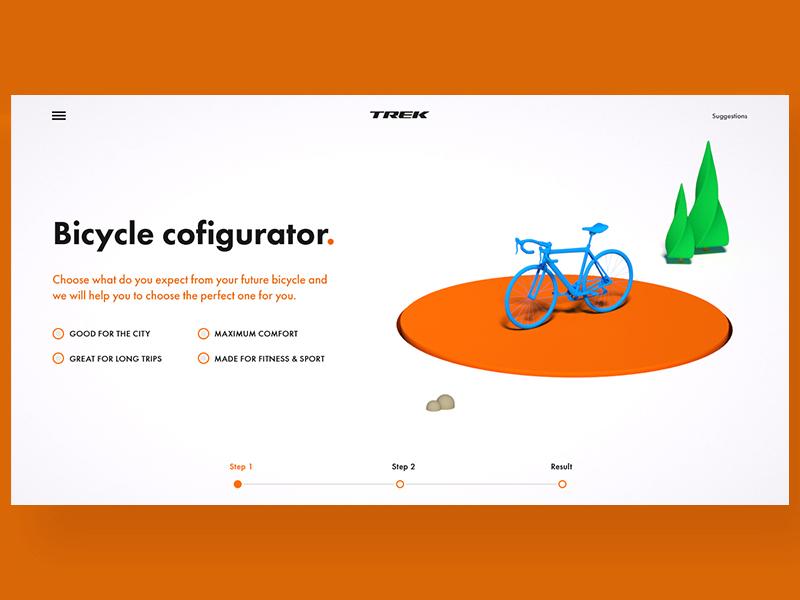 Bicycle configurator art direction c4d 3d bicycle bike ux ui
