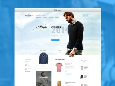 Cottonfield Store web webdesign store shop ecommerce fashion design product shopping cart