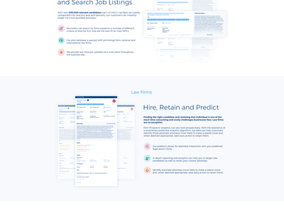 Firm Prospects redesign ux  ui ux website stats search results redesign recruitment landing page graph finance dashboard