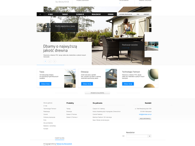 Twinson redesign contact footer wood company homepage minimalistic architects slider ux landing page menu website ui webdesign