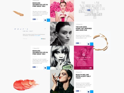 Beauty Blog footer comments design website menu ui ux homepage video minimal post twitter social media fashion cosmetics beauty articles blog webdesign landing page