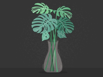 Monstera forest flat illustration flatcharacter icon vector minimal flat design adobeillustration flatdesign adobe illustrator art minimalis drawing sketch adobe illustration illustration illustrator graphic design flat design