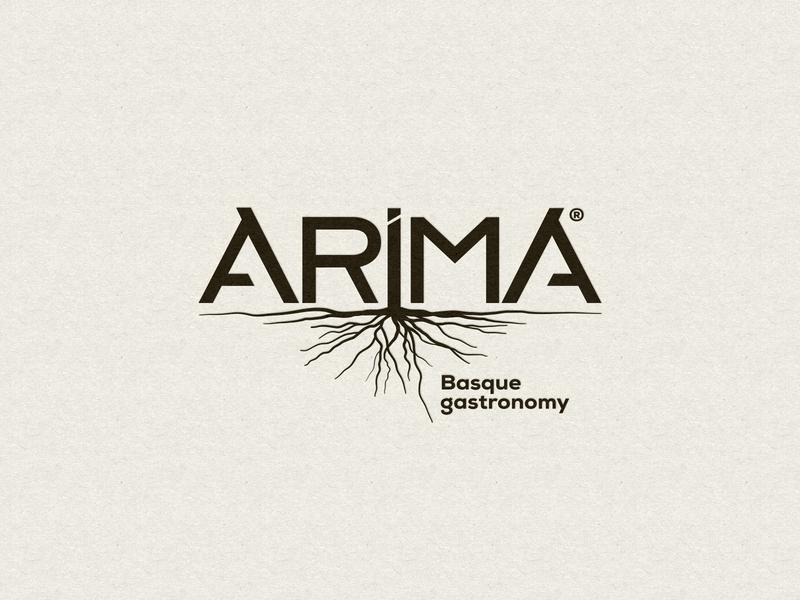 Arima Basque Gastronomy handmade minimal icon vector logo design branding