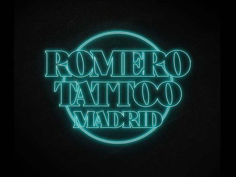 Romero Tattoo Madrid typography vector logo design branding