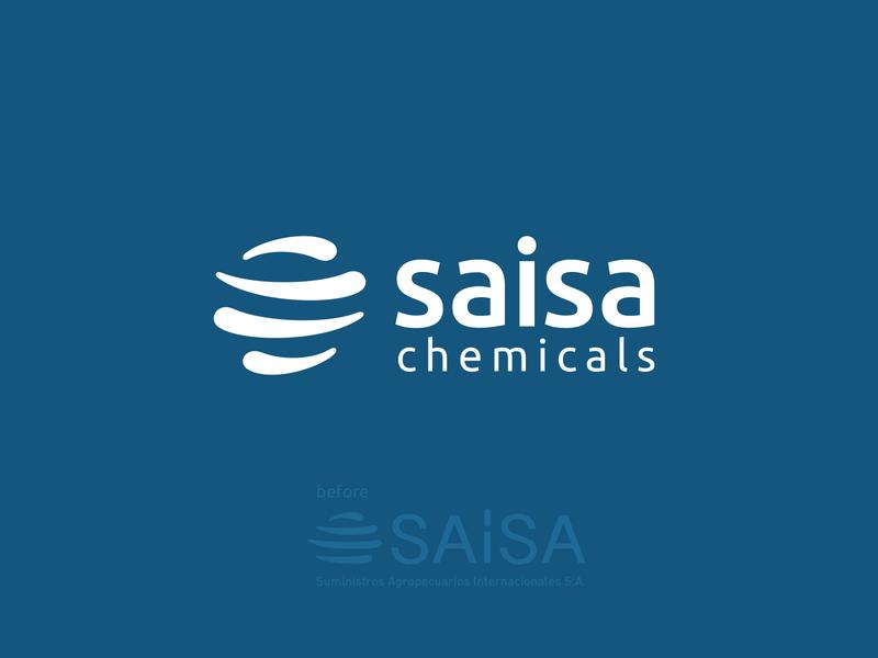 Saisa Chemicals logo refresh ui minimal icon vector logo design branding