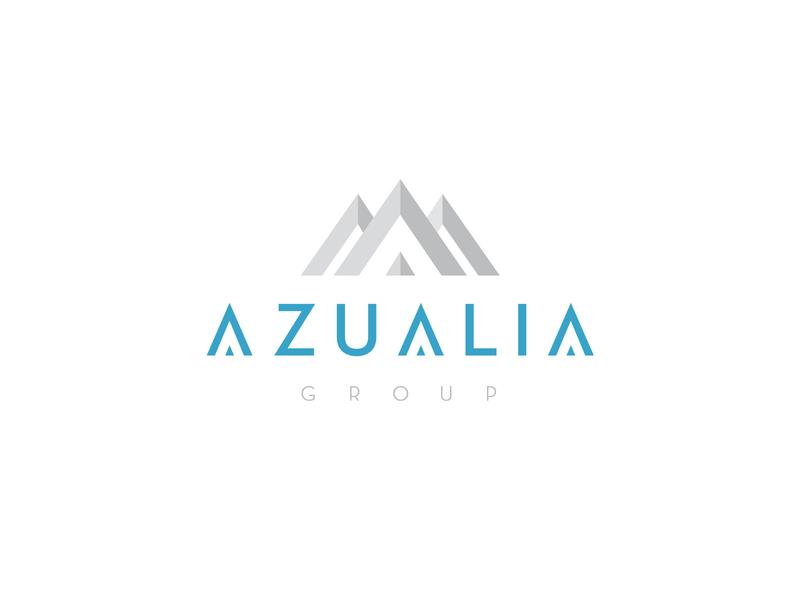 Azualia Group typography ui minimal icon vector logo design branding