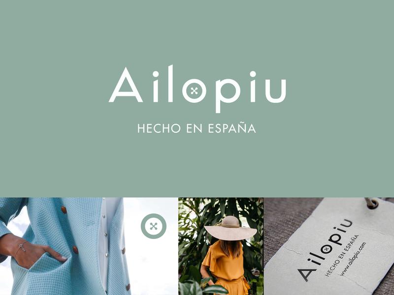Ailopiu ui typography handmade minimal vector logo design branding