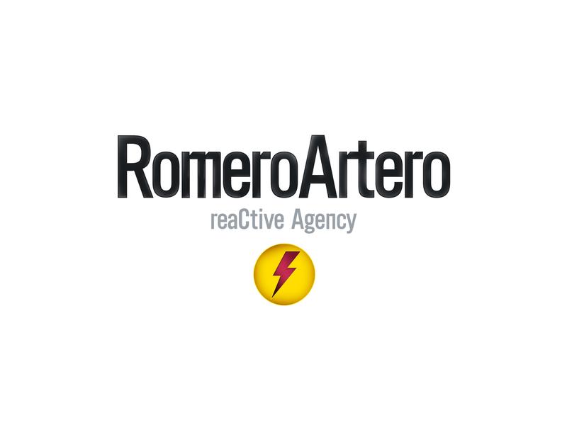 RomeroArtero reaCtive Agency typography handmade minimal icon vector logo design branding