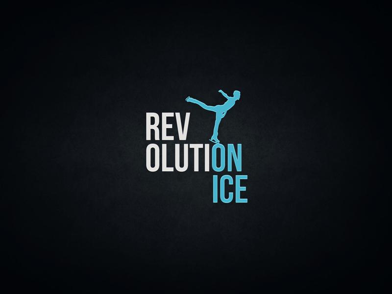 RevolutiOnIce ui typography icon vector design logo branding