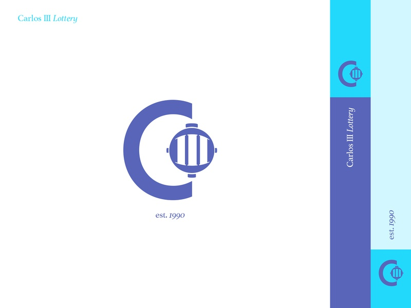 Carlos III Lottery app brand identity ui minimal vector icon design logo branding