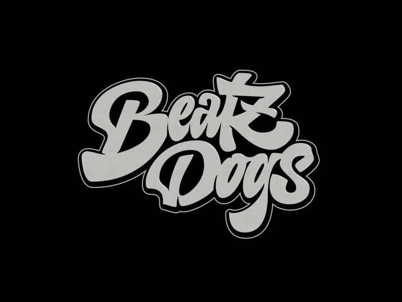 Beatz Dogs dribbble lettering hip hop dj sounds beats custom handmade logo branding