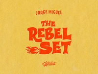 The Rebel Set icon illustration typography phoenix music dribbble handmade logo branding lettering custom