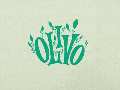 Olivo #olive design dribbble illustration custom typography lettering handmade logo branding