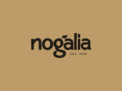 Nogalia Logo typography brand identity dribbble minimal ui lettering handmade logo design branding