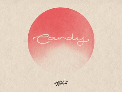 Candy design type minimal dribbble custom lettering handmade typography