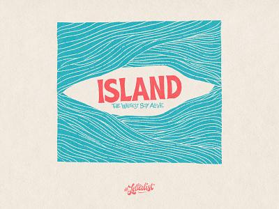 Island music handlettering letter type typeface dribbble typography custom lettering handmade