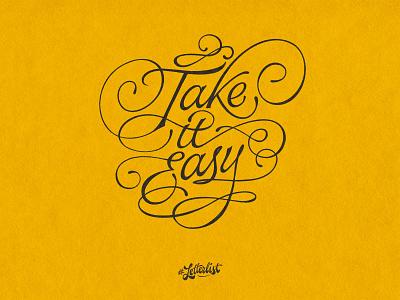 Take It Easy lettermark typeface music letters type dribbble custom typography lettering handmade
